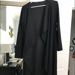 Boohoo black duster jacket